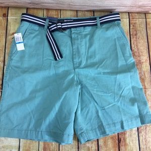 New Khaki Shorts 36W Flat Front